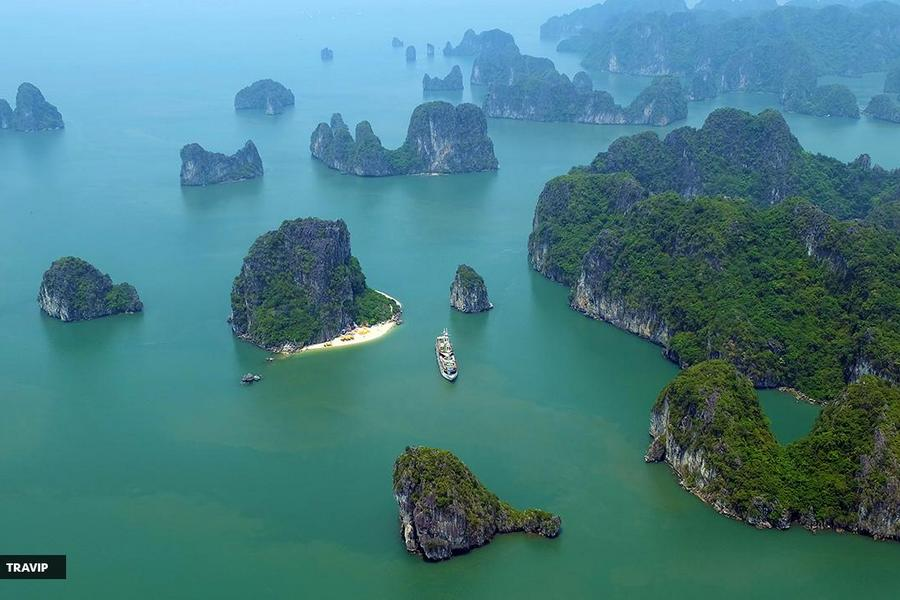 Ha Long Bay from seaplane