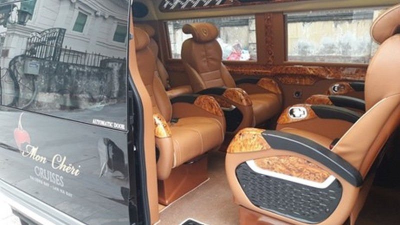 Limousine bus from Hanoi to HaLong Bay by Mon Cheri Cruise
